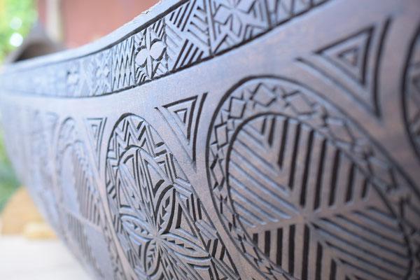 Bild: Traditionell samoanisches Holzboot
