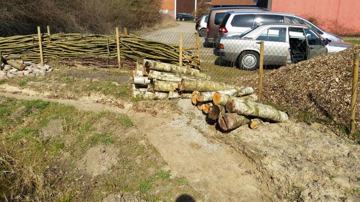 Holz zur Begrenzung