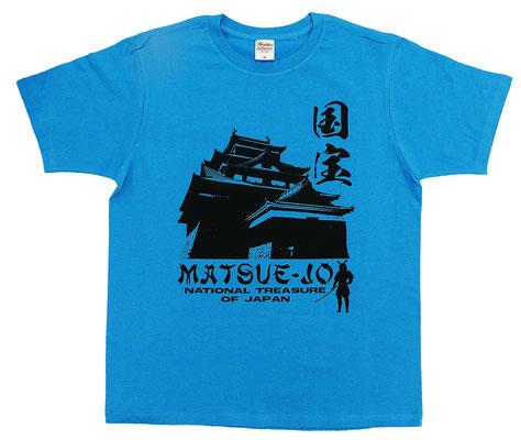 国宝松江城シルエットTシャツ フロント