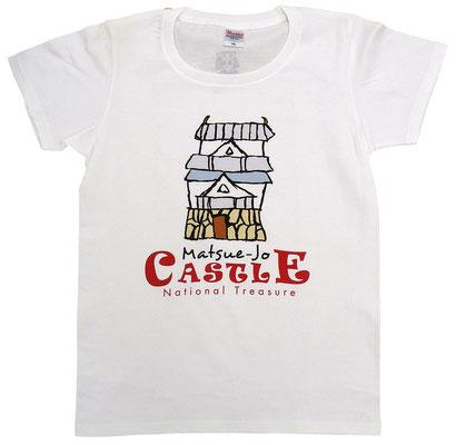 国宝松江城イラストTシャツ フロント