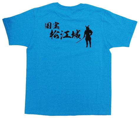 国宝松江城シルエットTシャツ バック