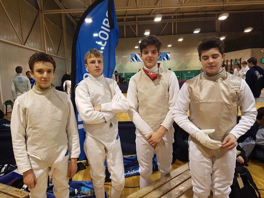 Notre équipe Cyril, Alban, Hugo et Landry