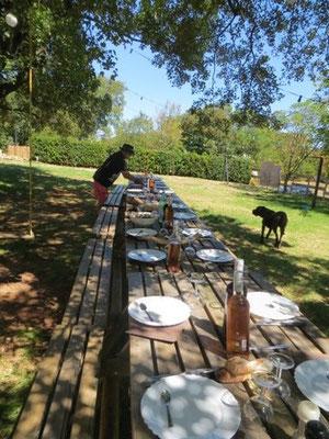 tables de pique-nique