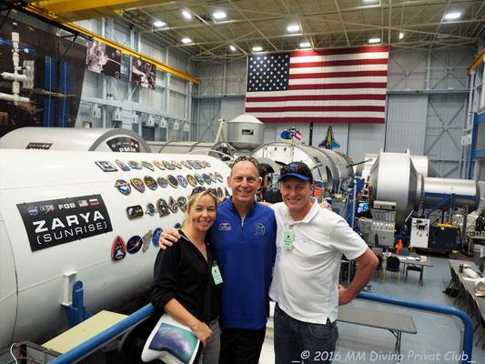 Und er (respektive seine Frau Susan) hat uns durch Houston geführt: Astronaut Clayton Anderson)