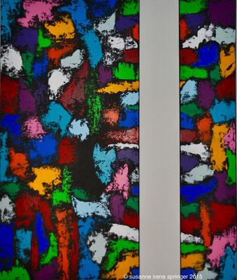 COLOR WORLDS IV  2 teilig                                       20 x 100 cm / 50 x 100 cm