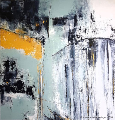 THE  WATERFALL   80 x 80 cm