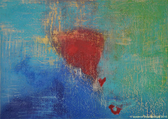 Heart Blood  ( Herzbluten )                                                             140 x 100 cm