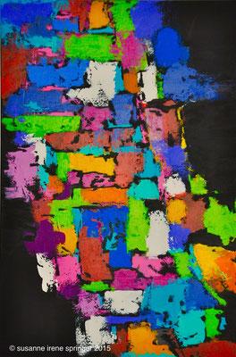 Farbwelten V                                                                            60 x 90 cm