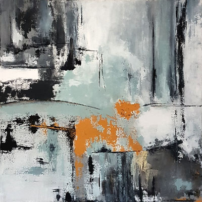 THE LOST HAPPINESS   100 x 100 cm