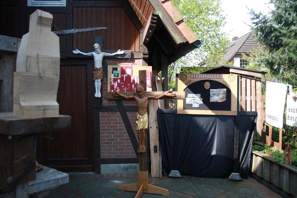 mobiler Romanischer Christus aus der Gemeinde St. Johannis in Soltau Ausstellung 1.Mai 2017