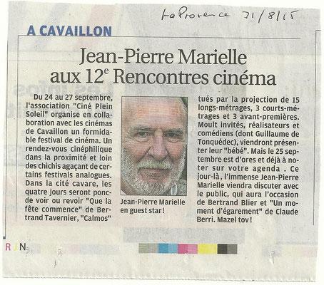 La Provence Région - 31 août 2015