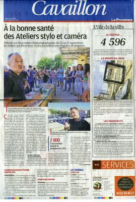 La Provence - Jeudi 4 août 2016