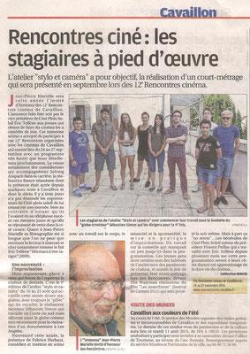 La Provence - 11 août 2015