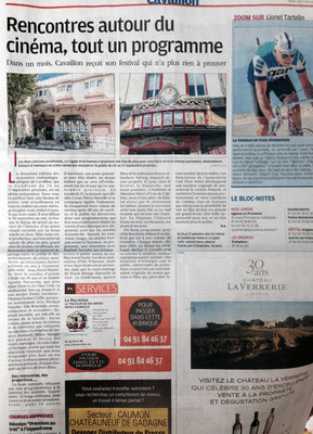 La Provence - 16 août 2015