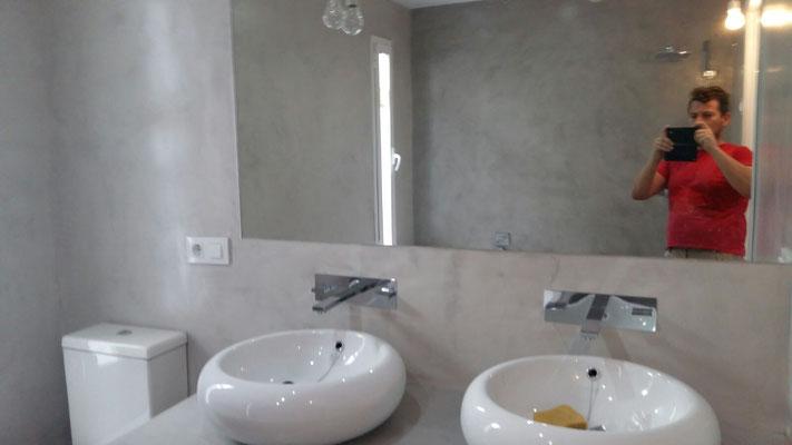 Arte Revestimientos / Microcemento baño y encimera