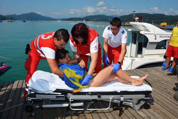 Das Rote Kreuz zeigte das Funktionieren der Rettungskette