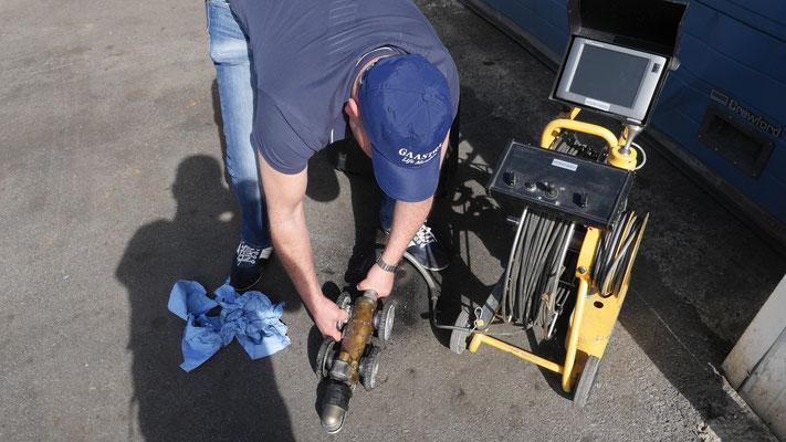 Inspection des égouts par caméra à Bruxelles