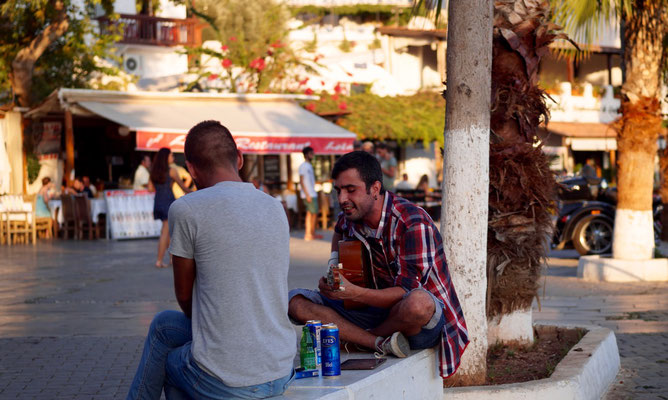 Kaş: Straßenmusiker