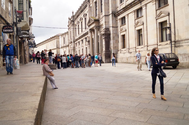 Hübsche Straßenzüge in der Altstadt Santiagos.