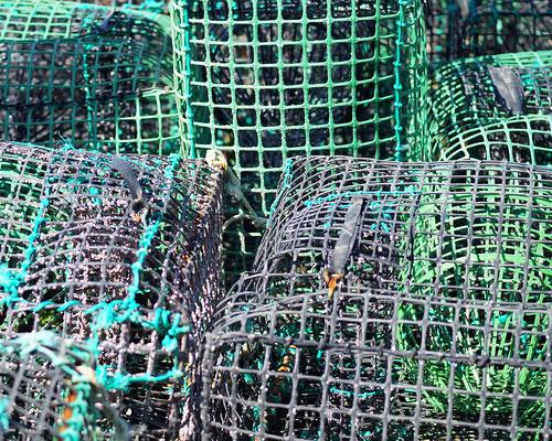 Ferragudo: Fischernetze