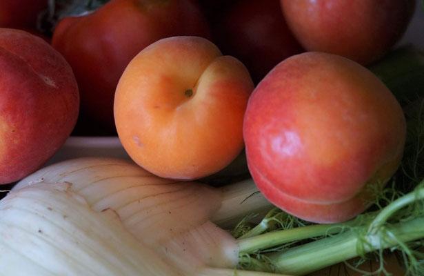 Herrlich süße Aprikosen vom Markt