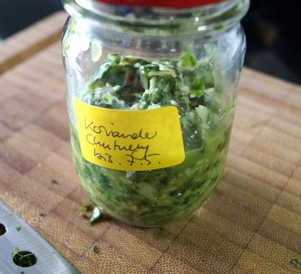 Koriander-Chutney: Frisch und lecker!