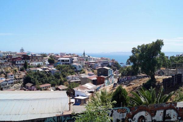 Vom Parque Cultural des Cerro Cárcel hat man einen schönen Blick.