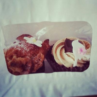 Köstliche Cup cakes gegenüber von Bear Pond Espresso