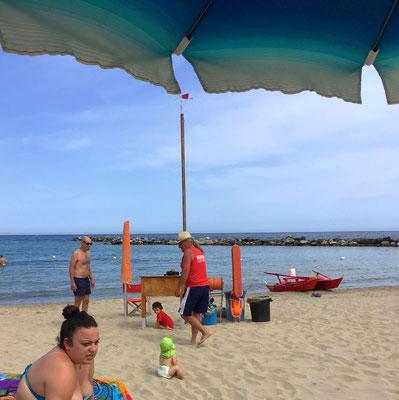 Der Mini erkundet den Strand