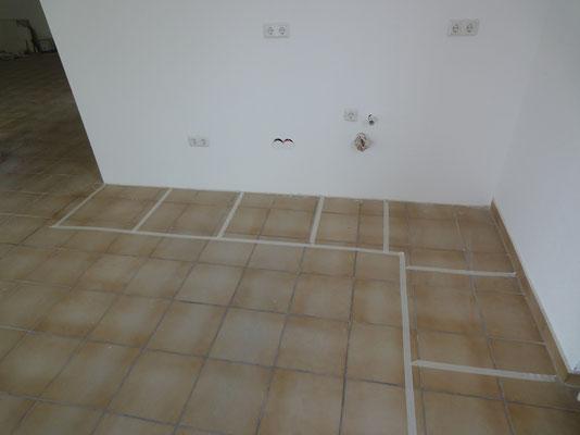 Küchenplanung 2D am Boden