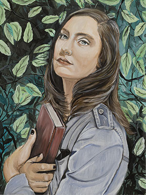 Portrait of Gabrielle as Earth, oil on panel, 16 x 20 in., 2019