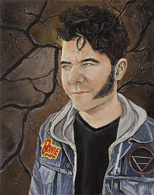 Portrait of Jason as Earth, oil on panel, 16 x 20 in., 2019