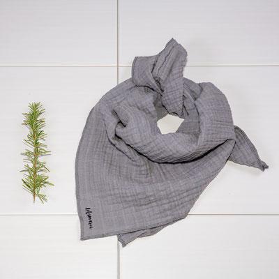 Halstuch aus Musselin in grau, verschiedene Größen, ab 15€