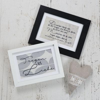 Bilder mit ganz persönlichem Text als Geschenk für jeden Anlass ab 12€