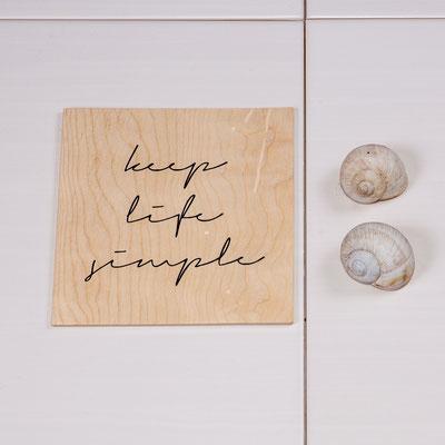 Spruchbild auf Holz, handbearbeitet, ab 5€
