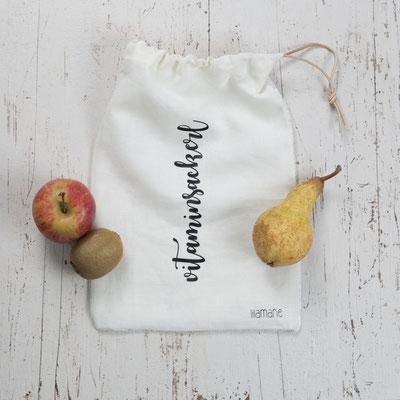 Vitaminsackerl für den Einkauf von Obst & Gemüse, vermeidet Plastikmüll