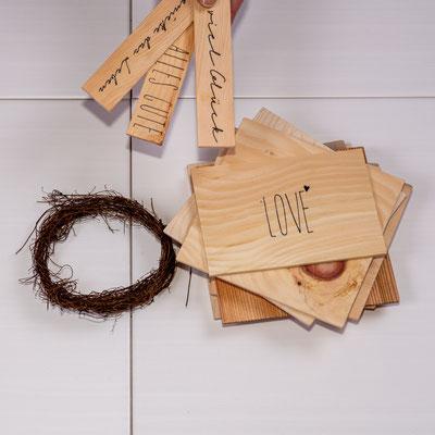 Kleine Päckchenanhänger aus Holz ab 2€