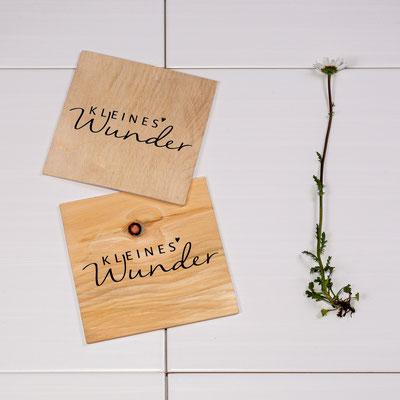 Karten aus Holz, z.B. Zirbe, 5€