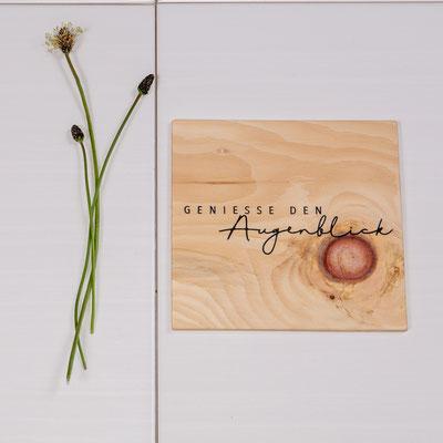 Holzbild mit Spruch, ab 5€