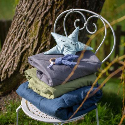 Babyteppiche/Spieldecken aus Leinen ab 39€, Zirbenstern 15€