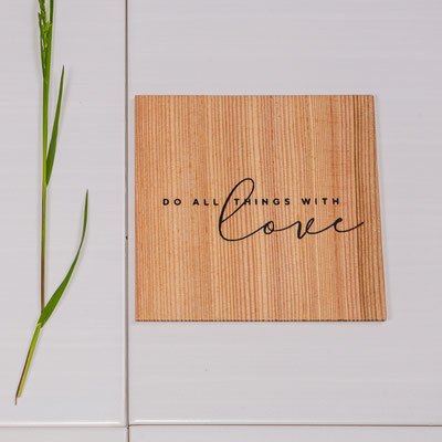 Geschenkkarte aus Holz 5€