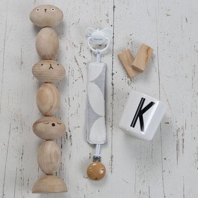 Schnullerkette mit Holzclip