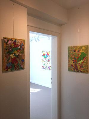 Blick in Raum 3 und Werke Daniel Kho