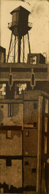tOG No.09 - Tina Wohlfarth - Superior III - 6 / 9, Ätzung, Aquatinta auf Kupferdruckbütten, 13,5 x 3,4 cm, 2012