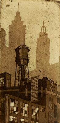 tOG No.07 - Tina Wohlfarth - Superior I - E.A., Ätzung, Aquatinta auf Kupferdruckbütten, 9 x 4,5 cm, 2012