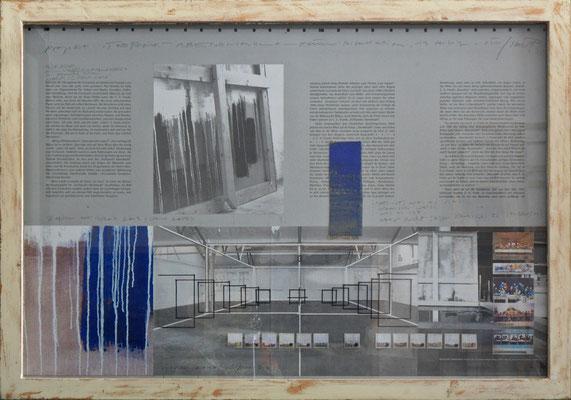 "tOG Nr. C.U.F. 057 - Künstler C.U. FRANK - Werk Titel ""Projektskizze Abendmahl "", 2004, mit Rahmen - mixed media - 77 x 107 x 4 cm,  (c) tOG-Düsseldorf"
