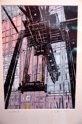 """DI-tOG 040 Werk Dorothee Impelmann """"Work Flow II"""" - 2010 - 40 x 30 x 3,5 cm, Mixed Media unter Glas in weißem Bilderrahmen - tOG-Düsseldorf (c) Dorothee Impelmann"""