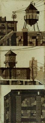 tOG No.08 - Tina Wohlfarth - Superior II - 3/8, Ätzung, Aquatinta auf Kupferdruckbütten, 11,2 x 4,2 cm, 2012