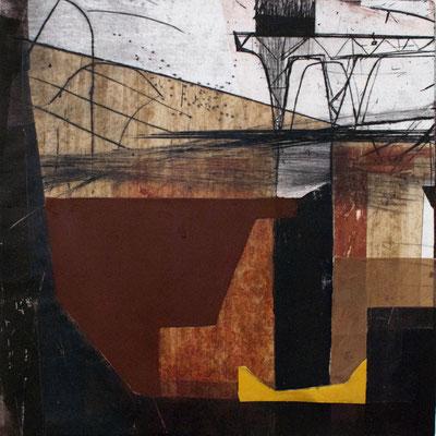 tOG No.01 - Sperre II - Tina Wohlfarth - Druckgraphik - 44,5 x 43,5 cm - Unikat