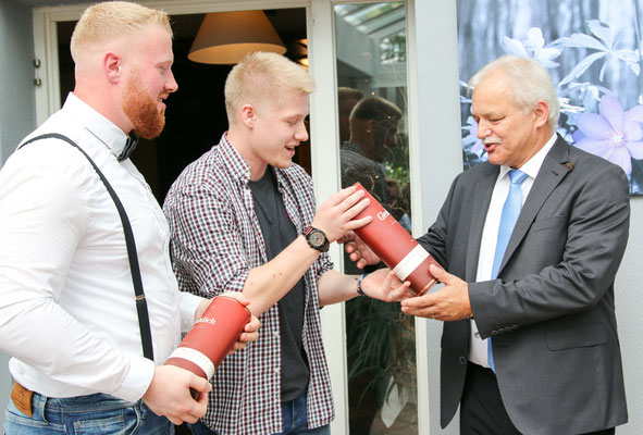 Joey Stock, Björn Thomas und Volker Henkis